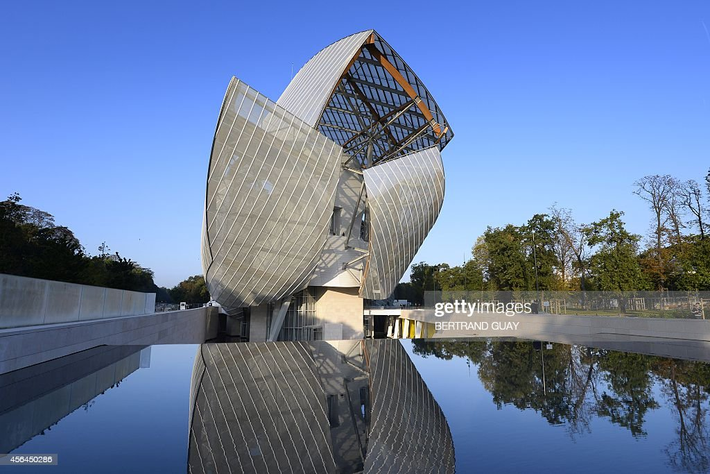 A picture shows the new building of the Louis Vuitton Foundation for Creation modern and contemporary arts centre designed by AmericanCanadian...