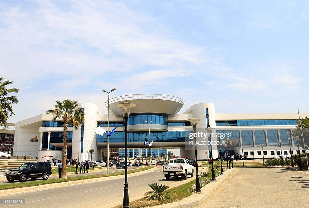 A picture shows the new headquarters of Egypt's stock exchange in the Smart Village on the outskirts of Cairo on April 12 2012 AFP PHOTO/KHALED...