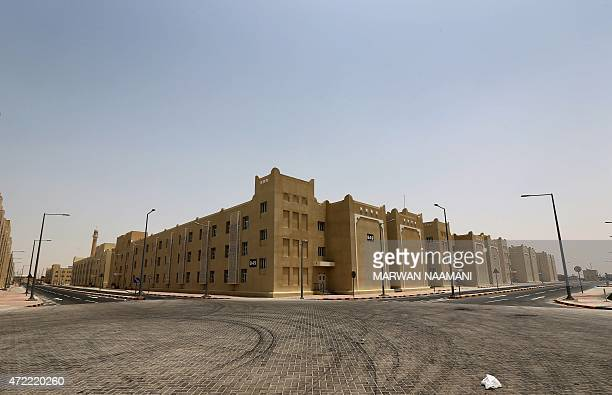 A picture shows the new labour city in Doha on May 3 2015 which is built by the Qatari government and will be hosting some 75000 foreign workers as...