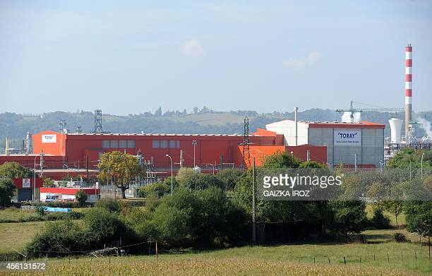 A picture shows the new plant of Tokyobased carbon fiber producer Toray Industries in Lacq on September 26 2014 AFP PHOTO / GAIZKA IROZ
