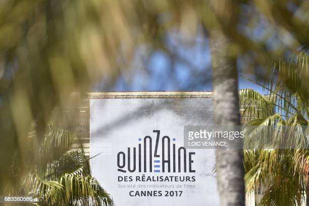 A picture shows the official poster of the Quinzaine des Realisateurs on May 15 2017 in Cannes southeastern France two days prior to the opening of...