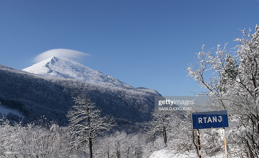 A picture shows the pyramid-shaped Siljak peak in the Serbian mountain of Rtanj on December 20, 2012. Visitors were flocking to the pyramid-shaped mountain in southeastern Serbia, ahead of the Mayan-foretold 'doomsday', local officials said Thursday. Hotel beds near Rtanj mountain, had been booked up well in advance, local tourist officials said.