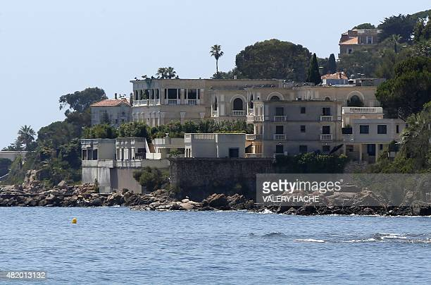 A picture shows the villa of the Saudi king in Vallauris GolfeJuan southeastern France on July 26 2015 King Salman of Saudi Arabia arrived in France...
