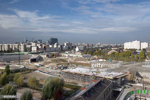 A picture shows the ZAC ClichyBatignolles special urban planning construction site in Paris on October 22 2013 AFP PHOTO / JOEL SAGET