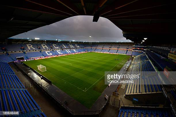 A picture shwos Genk's Cristal Arena on October 23 on the eve of the Europa League Group G football match between KRC Genk and SK Rapid Wien AFP...