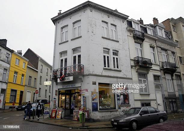 A picture taken 08 January 2004 shows the street of Brussels' Etterbeek neighborhood where the creator of comic strip hero Tintin Georges Remi better...