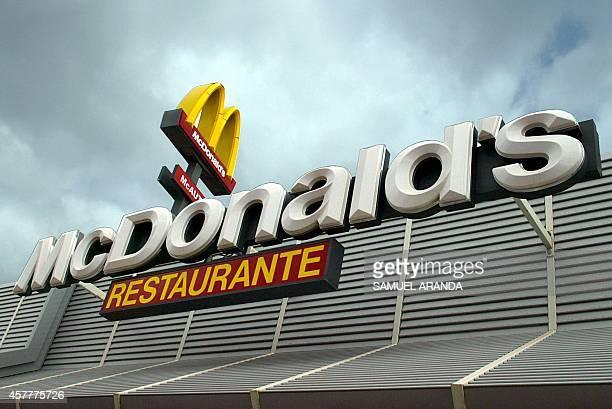 A picture taken 14 April 2005 shows a Mc Donald's restaurant in 'El Castillo' in Fuerteventura island Spain Mc Donalds will be celebrating the 50th...