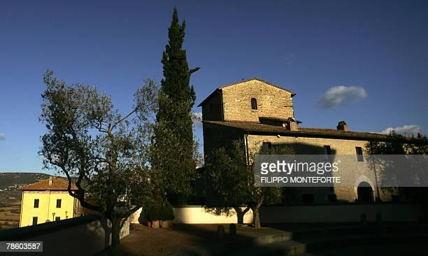DOLMADJIAN Picture taken 14 December 2007 of a medieval castle restaured by Italian luxury designer Brunello Cucinelli in the medieval hilltop...