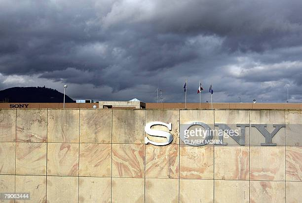 A picture taken 17 January 2008 shows the logo at the entrance of SwedishJapanese mobile handset maker Sony Ericsson's factory in Ribeauville eastern...