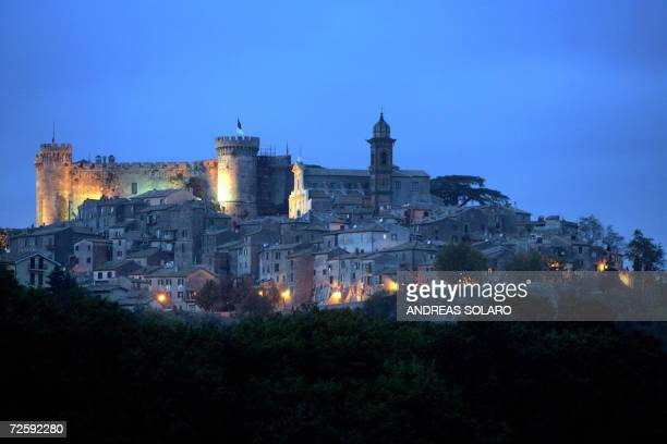 Picture taken 17 November 2006 shows a night view of the Odescalchi Castle in Bracciano US actors Tom Cruise and fiancee Katie Holmes are expected to...