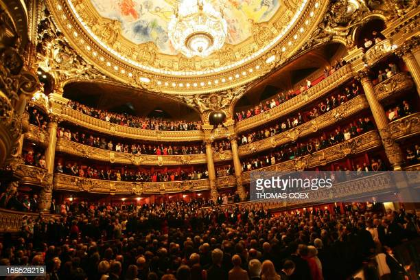 Picture taken 29 September 2004 in Paris showing the Opera Garnier during the centenary of the Entente Cordiale between Britain and France...