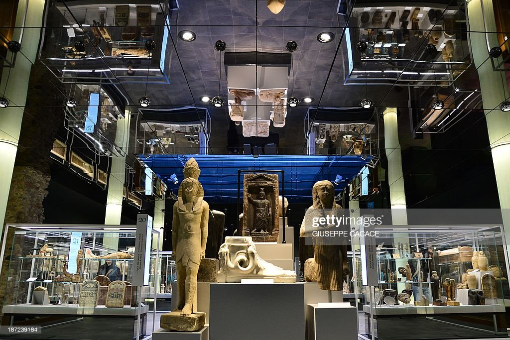 Picture taken at the Egyptian Museum in Turin on November 7, 2013. The 'Museo delle Antichità Egizie' in Turin is the only museum other than the Cairo Museum that is dedicated solely to ancient Egypt art and culture.