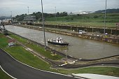 Picture taken at the Miraflores Locks of the Panama Canal in Panama City on June 25 2016 Panama will officially open its canal on Sunday to far...
