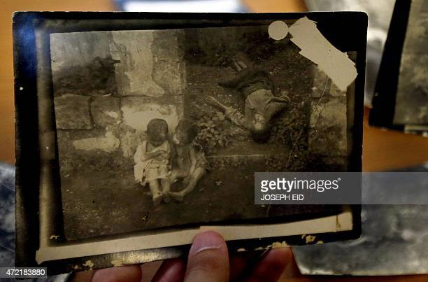 A picture taken by late Lebanese Ibrahim Naoum Kanaan president of charitable groups in Mount Lebanon is shown to AFP on April 30 2015 by his...