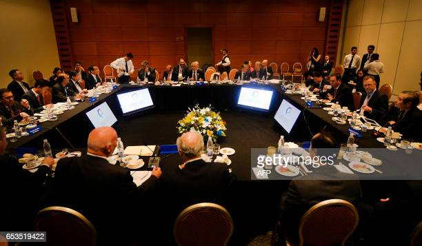 Picture taken during the Pacific Alliance Ministers' Summit in Vina del Mar Chile on March 15 2017 The highlevel meeting seeks to develop new markets...