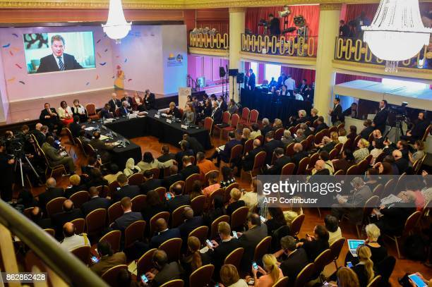 Picture taken during the World Health Organization's Global Conference on NonCommunicable Disease being held at the Mercosur headquarters in...