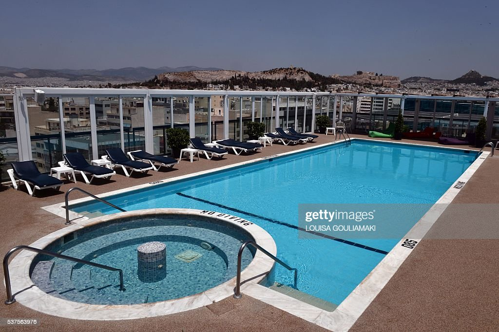 A Picture Taken From The Roof With A Swimming Pool At The Luxury Pictures Getty Images