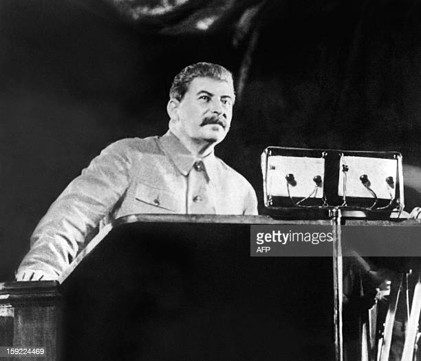 Picture taken in 1937 in Moscow of Yossif V Dzhugashvili known as Josef Stalin Soviet head of state AFP PHOTO
