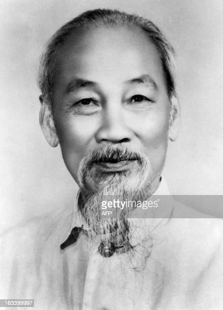 Picture taken in 1966 of Ho Chi Minh the founder of the Indochina communist party and North Vietnamese President