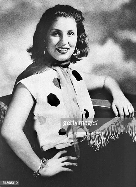 Picture taken in Cairo in the 1950s shows famous Lebanese singer Sabah at the peak of her career in Egypt's musical film industry Considered the only...