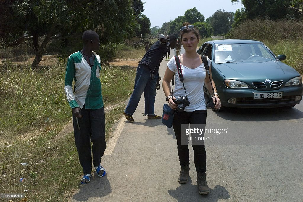 Picture taken in Damara, 70km north from Bangui, on February, 21, 2014 of French journalist Camille Lepage. French journalist Camille Lepage, 26, has been killed while on a reporting assignment in Central African Republic, French President Francois Hollande said on May 13, 2014 in a statement, vowing to make every effort to shed light on the murder. 'The body of Miss Lepage was found by a patrol of Sangaris troops while checking a vehicle driven by anti-Balaka militia in the region of Bouar' in west of the country, it said, referring to militamen from the mainly Christian vigilante group.