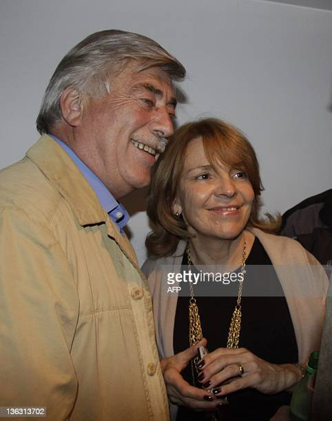 Picture taken in General Roca Argentina on September 25 2011 showing the governor of the Argentine province of Rio Negro Carlos Soria and his wife...
