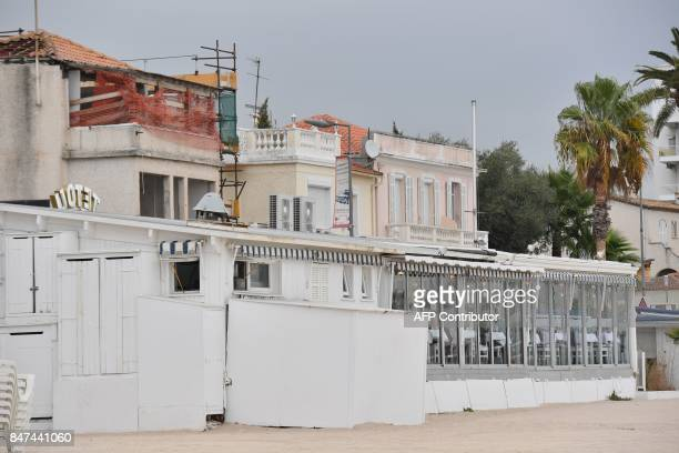 A picture taken in Golfe Juan southeastern France on September 15 2017 shows 'chez Tetou' beach restaurant The Nice administrative court is set to...