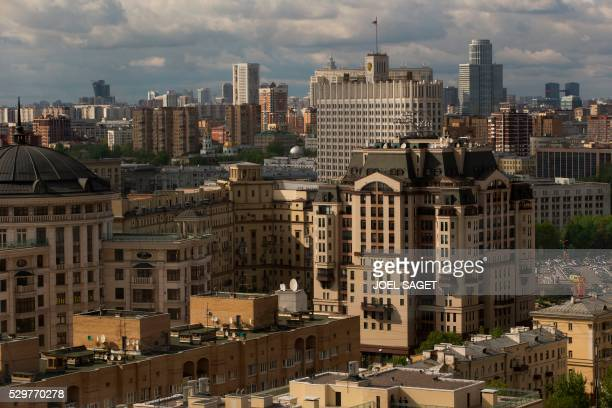A picture taken in Moscow on May 5 2016 shows the House of the Government of the Russian Federation also known as the Russian White House / AFP /...