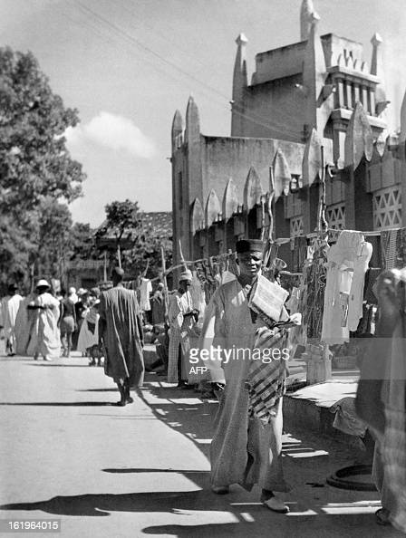 Picture taken in October 1946 of people walking in Bamako streets in the French Soudan in the French West Africa AOF was a federation created in 1895...