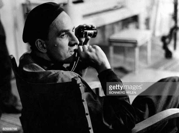Picture taken in the 1960s in Sweden shows legendary Swedish filmmaker and theater director Ingmar Bergman shooting a movie