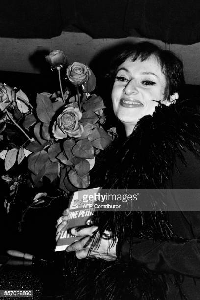 Picture taken in the 60's shows French singer Barbara / AFP PHOTO /