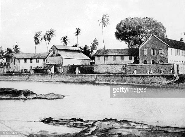 Picture taken in the early 20th century of French penal colony in French Guiana where people were sentenced to forced labour The prison was closed in...