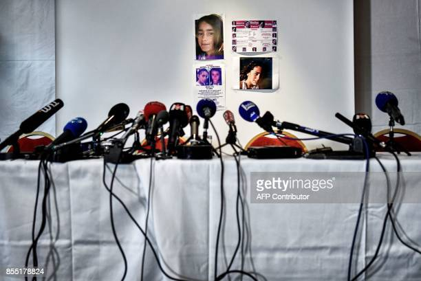 A picture taken in Villeurbanne eastern France on September 28 2017 before the press conference of the lawyers and parents of nineyearold Maelys who...