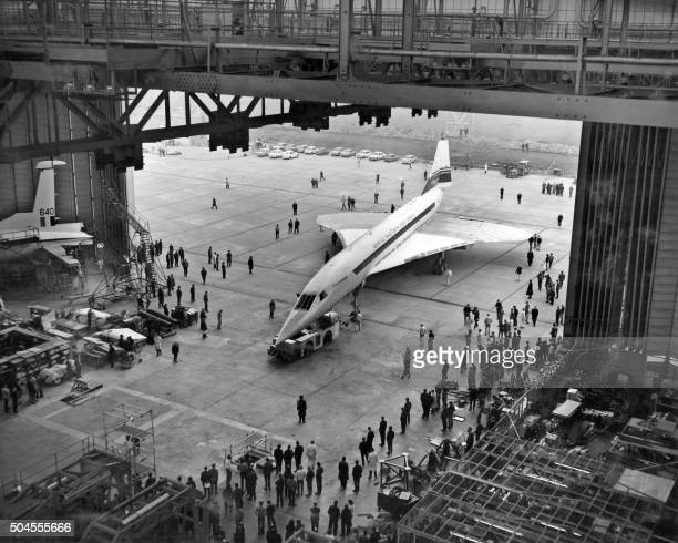 Picture taken March 31 1971 of Concorde 001 at the British Aircraft Corporation 's Filton Works in Bristol / AFP /