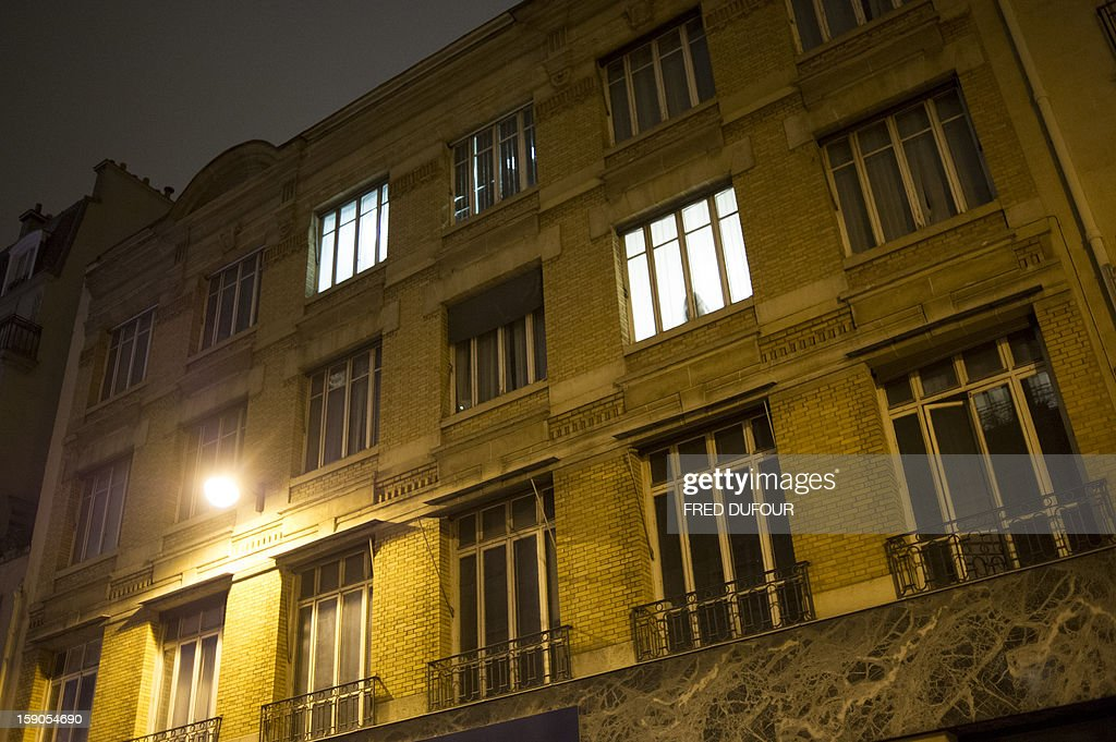 Picture taken of a building requisitioned by French associations 'Jeudi Noir' ('Black Thursday') and 'Droit Au Logement', ('Right to Housing Association', DAL), on January 6 , 2013 in Paris. The building, situated in the 10th arrondissement of Paris is occupied since December 31, 2012.