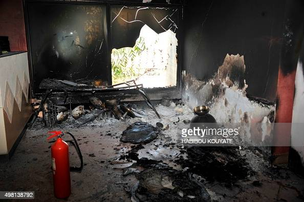 Picture taken of a room at the Radisson Blu hotel on November 21 the day after the deadly jihadist siege at the luxury hotel in the capital Bamako...