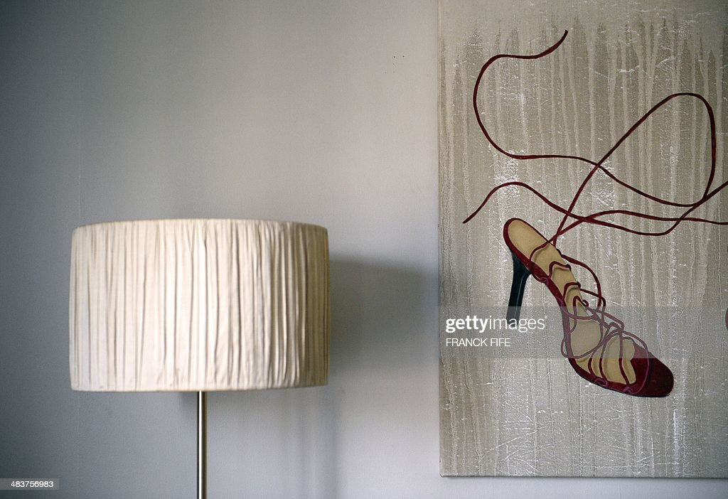 A picture taken on April 10, 2014, shows a detail of the 'La Parisienne' suite at the luxury hotel 'Lutetia' in Paris. The hotel, built in 1910 by French architects Louis-Charles Boileau and Henri Tauzin, will close its doors on April 14, 2014, prior to a total renovation. Throughout the years, various celebrities stayed at the 'Lutetia', such as French author and winner of the Nobel Prize in Literature in 1947 Andre Gide, American-born French actress Josephine Baker and French General Charles de Gaulle on the occasion of his wedding night.