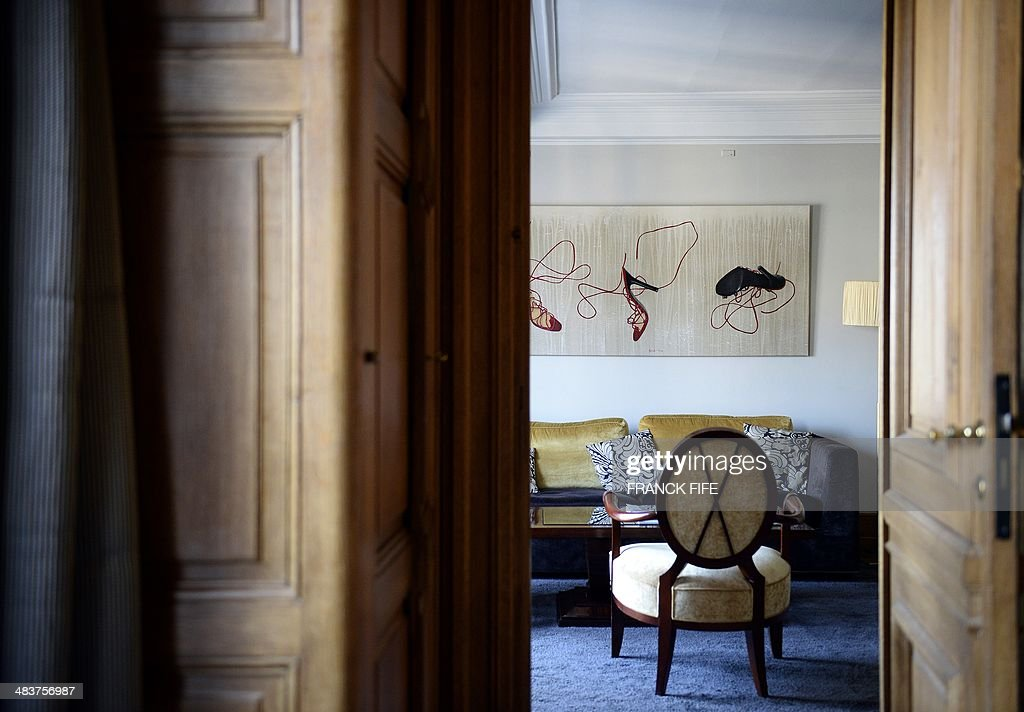 A picture taken on April 10, 2013, shows a suite 'La Parisienne' of the luxury hotel 'Lutetia' in Paris. The hotel closed its doors on April 14 before a total renovation of this mythical place in the 1930s by French architect Jean-Michel Wilmotte. In this hotel, stayed illustrious personalities as André Gide, Antoine de Saint-Exupéry, Alexandra David-Neel, Josephine Baker or General de Gaulle on the occasion of her wedding night.