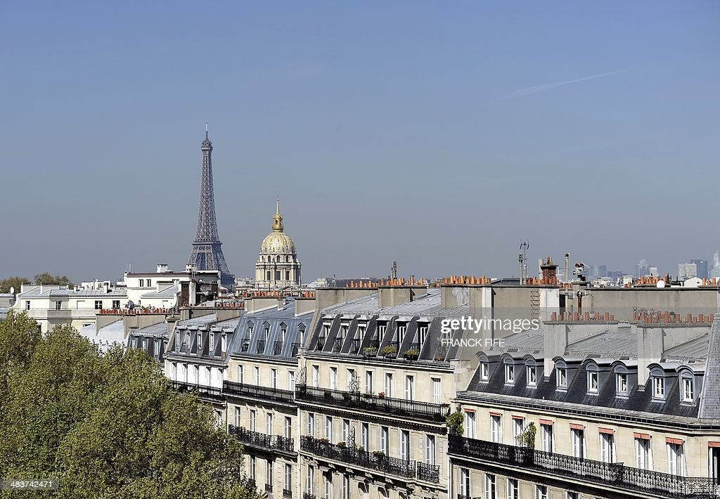 A picture taken on April 10, 2013, shows a view of the Eiffel Tower from the suite 'La Parisienne' at the luxury hotel 'Lutetia' in Paris. The hotel, created in the 1930s by French architects Louis-Charles Boileau and Henri Tauzin, will close its doors on April 14, 2014, prior to a total renovation. Throughout the years, various celebrities stayed at the 'Lutetia', such as French author and winner of the Nobel Prize in Literature in 1947 Andre Gide, American-born French actress Josephine Baker and French General Charles de Gaulle on the occasion of his wedding night.