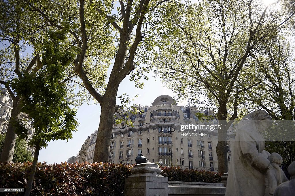 A picture taken on April 10, 2014, shows the facade of the luxury hotel 'Lutetia' in Paris. The hotel, built in 1910 by French architects Louis-Charles Boileau and Henri Tauzin, will close its doors on April 14, 2014, prior to a total renovation. Throughout the years, various celebrities stayed at the 'Lutetia', such as French author and winner of the Nobel Prize in Literature in 1947 Andre Gide, American-born French actress Josephine Baker and French General Charles de Gaulle on the occasion of his wedding night.