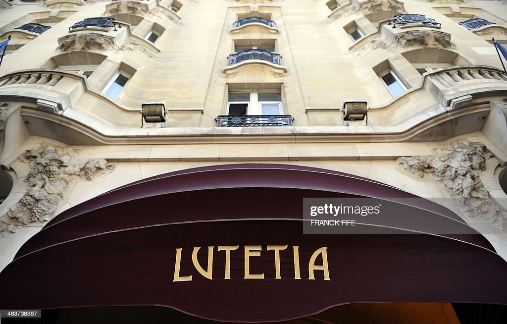 A picture taken on April 10, 2014, shows the front entrance of luxury hotel 'Lutetia' in Paris. The hotel, built in 1910 by French architects Louis-Charles Boileau and Henri Tauzin, will close its doors on April 14, 2014, prior to a total renovation. Throughout the years, various celebrities stayed at the 'Lutetia', such as French author and winner of the Nobel Prize in Literature in 1947 Andre Gide, American-born French actress Josephine Baker and French General Charles de Gaulle on the occasion of his wedding night.