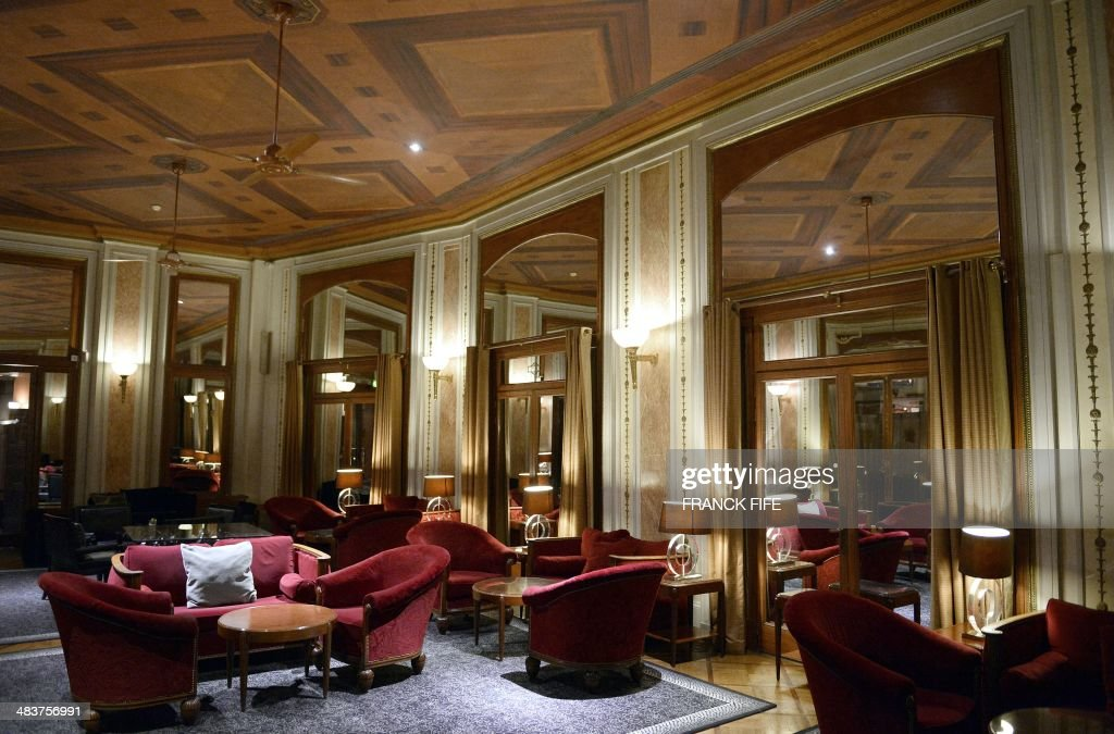 A picture taken on April 10, 2014, shows the interior of the luxury hotel 'Lutetia' in Paris. The hotel, built in 1910 by French architects Louis-Charles Boileau and Henri Tauzin, will close its doors on April 14, 2014, prior to a total renovation. Throughout the years, various celebrities stayed at the 'Lutetia', such as French author and winner of the Nobel Prize in Literature in 1947 Andre Gide, American-born French actress Josephine Baker and French General Charles de Gaulle on the occasion of his wedding night. AFP PHOTO / FRANCK FIFE