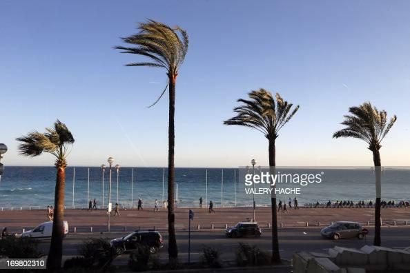 A picture taken on April 12 2013 shows 'La promenade des Anglais' in Nice southeastern France AFP PHOTO / VALERY HACHE