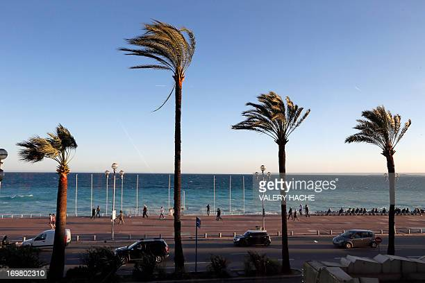 A picture taken on April 12 2013 shows 'La promenade des Anglais' in Nice southeastern France AFP PHOTO / VALERY HACHE