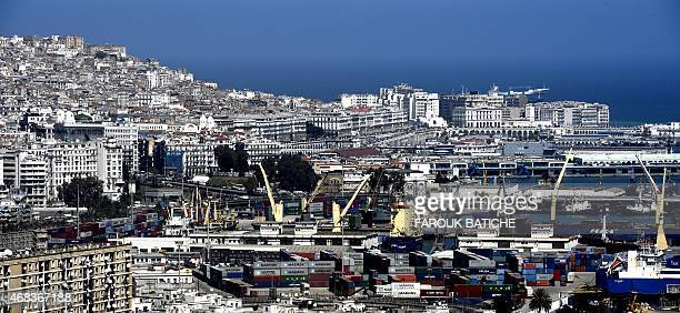 A picture taken on April 2 2015 shows the harbour of the Algerian capital northwest of Algiers AFP PHOTO / FAROUK BATICHE