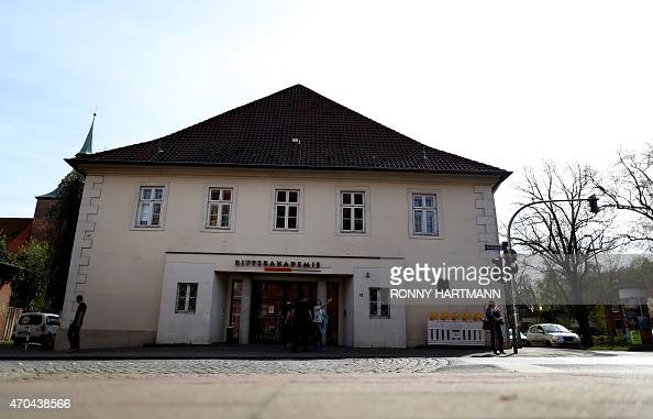 Picture taken on April 20 2015 shows a general view of the 'Ritterakademie' venue in Lueneburg northern Germany The 'Ritterakademie' is the venue of...