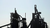 A picture taken on April 25 2013 shows blast furnaces of steel giant ArcelorMittal at the Florange site in Hayange eastern France ArcelorMittal's...