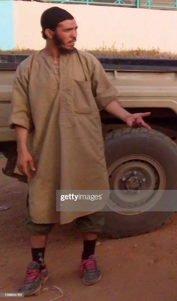 A picture taken on April 26, 2012 in Gao, Mali shows Abu al-Baraa Al-Jazairi, who the Nouakchott Mauritanian News Agency (ANI) claims he is the head of the commando that kidnapped 41 foreigners in In Amenas in eastern Algeria the day before. The ANI said also that Abu al-Baraa was killed when Algerian troops assaulted the complex where the hostages were held on January 17, 2013.