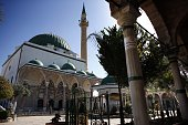 A picture taken on April 26 2014 shows the AlJazzar mosque in the ancient Mediterranean port town of Akko north of Haifa Israel The Canaanites the...