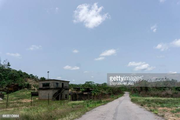 A picture taken on April 26 2017 shows the road that leads to the Cross River National Park in Calabar The 800billionnaira highway project launched...